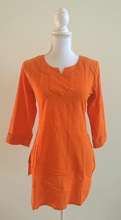 BIBA branded orange cotton kurti top