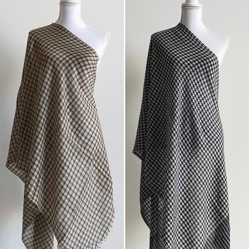 Warm wool blend checkered stalls