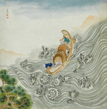 Crossing the Poyang Lake, late 18th century