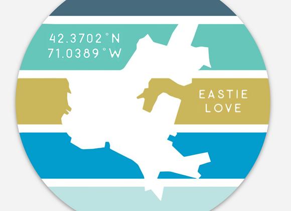 Eastie Love Icon Magnet 4x4