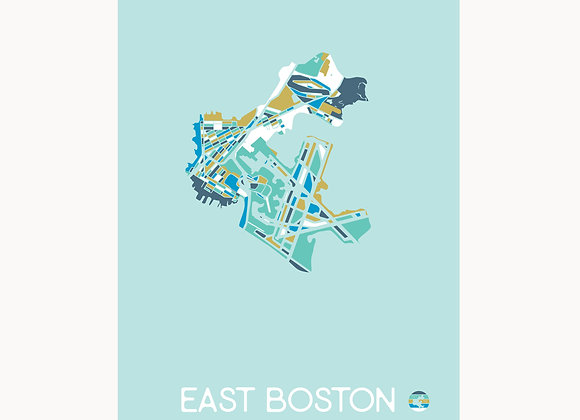 EastieLove East Boston Graphic Map