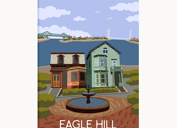 """EastieLove Eagle Hill Poster 11""""X17"""""""