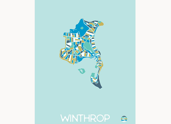 EastieLove Winthrop Graphic Map 11x17