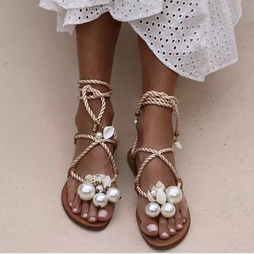 Sandals - Pearl Ropes