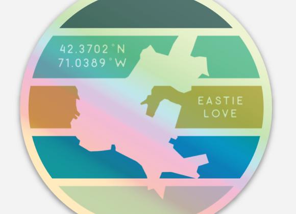 EastieLove Holographic Sticker 3x3