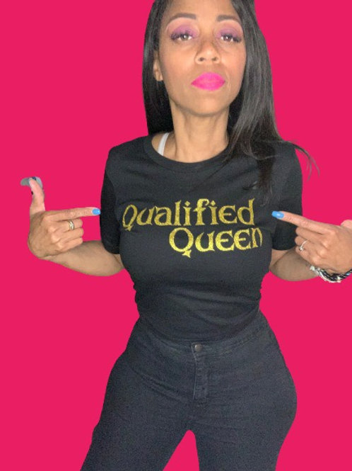 """Gold """"Qualified Queen"""""""