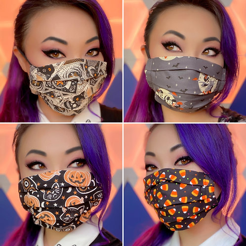 Premium 100% Cotton Face Mask, Washable, 2 Layers, Filter Pocket