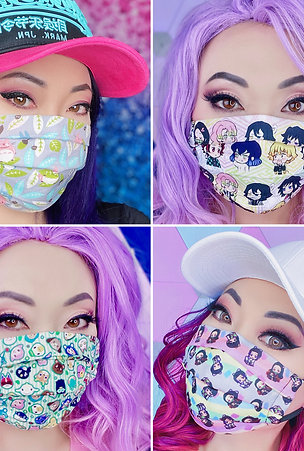 Premium Face Mask, Washable, Two Layers, Filter Pocket, Cotton or Poly Blend