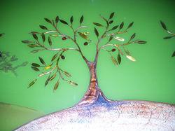 olive tree - glass, copper