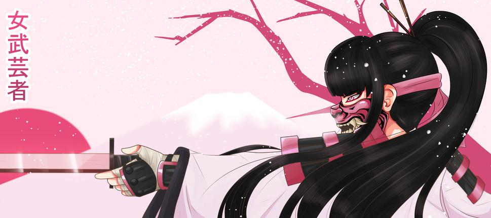 'Onna-bugeisha 女武芸者' por DrawnFatal