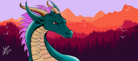 'Dragão Japonês Demolidora de Mundos' por Art Lucas