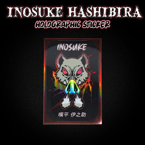 Inosuke Hashibira Holographic Sticker