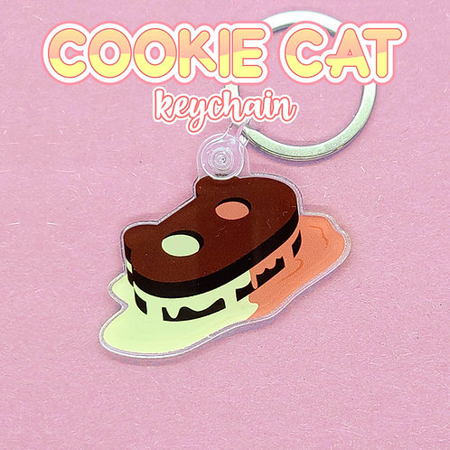 Melting Cookie Cat Keychain