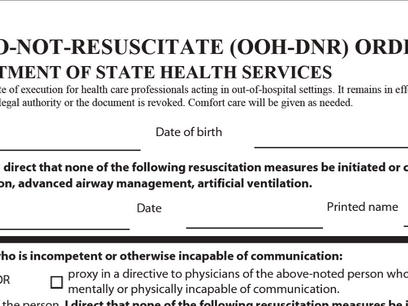 SB 11 proposes to regulate inpatient Do-Not-Resuscitate orders