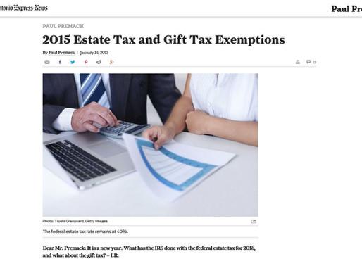 Estate Tax & Gift Tax Exemptions