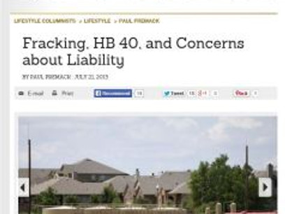 Fracking, HB 40, and Concerns about Liability
