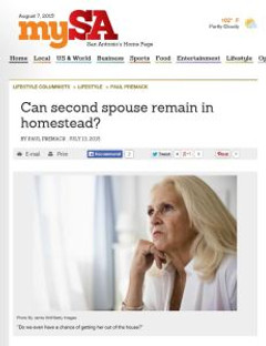 Can Second Spouse Remain in Homestead?