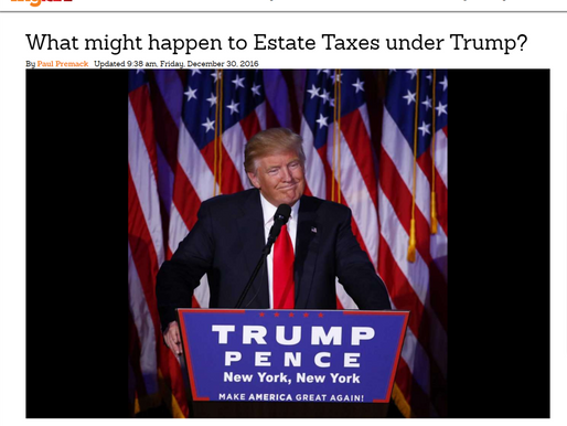 What might happen to Estate Taxes under Trump?