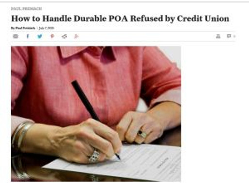 How to Handle Durable POA Refused by Credit Union