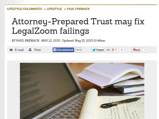 Attorney-Prepared Trust may fix LegalZoom failings