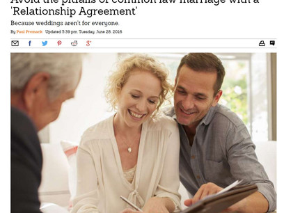 Handle common law marriage with a Relationship Agreement