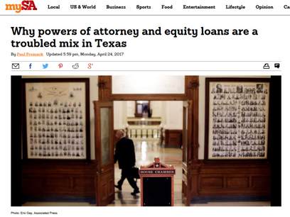 Why powers of attorney and equity loans are a troubled mix in Texas