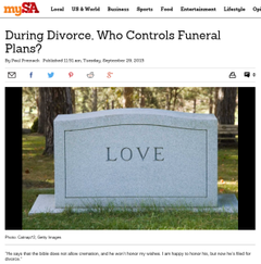 During Divorce, Who Controls Funeral Plans?