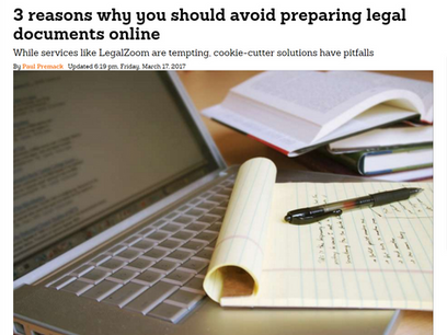 3 reasons why you should avoid preparing legal documents online