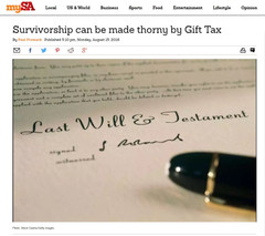 Survivorship can be made thorny by Gift Tax