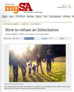 How to Refuse an Inheritance
