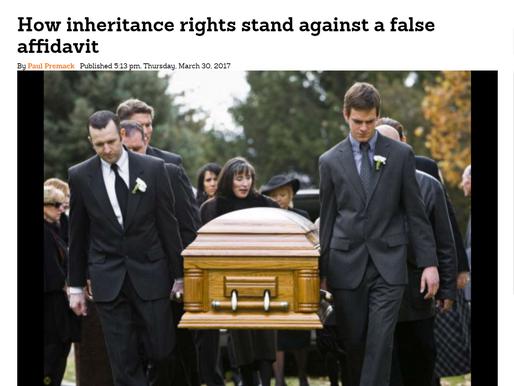 How inheritance rights stand against a false affidavit