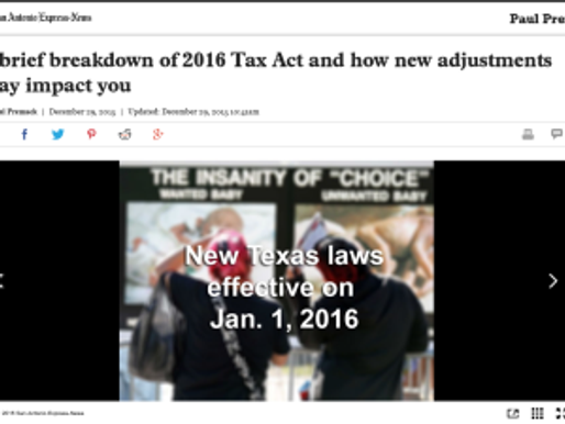 A brief breakdown of 2016 Tax Act and how new adjustments may impact you