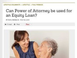 Can Power of Attorney be used for an Equity Loan?