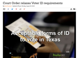 Court Order relaxes Voter ID requirements