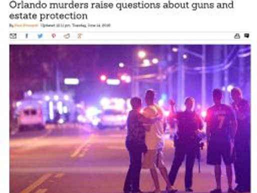 Orlando murders raise questions about guns and estate protection