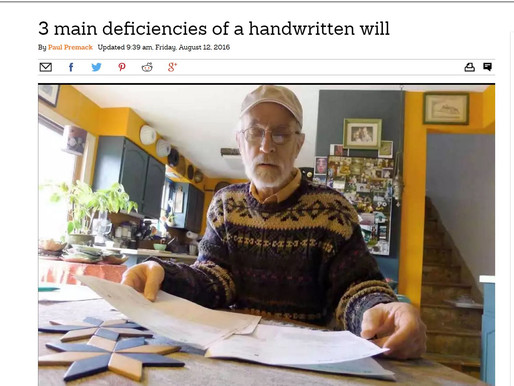 3 main deficiencies of a handwritten Will