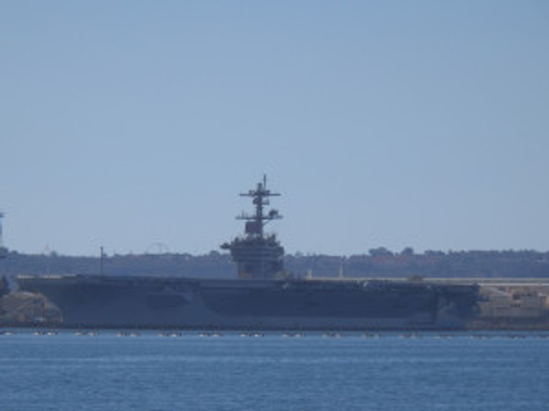 US Aircraft Carrier docked in San Diego (c) 2014 Paul Premack