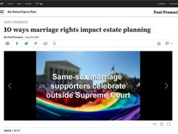 Marriage Rights impact Estate Planning Issues