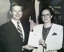 Ruthie and Lamar Smith, award 1990