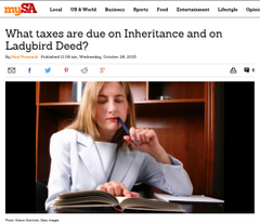 What taxes are due on Inheritance and on Ladybird Deed?
