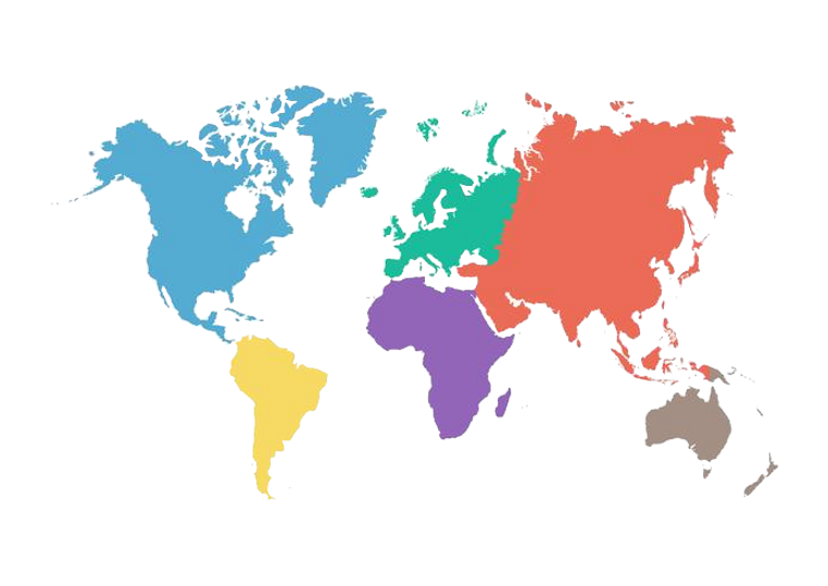 vector-world-map-with-continent-in-diffe