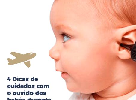 Cuidados com o ouvido dos bebês durante o voo
