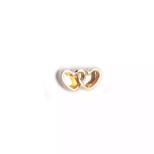İkili Kalp Charm-8mm