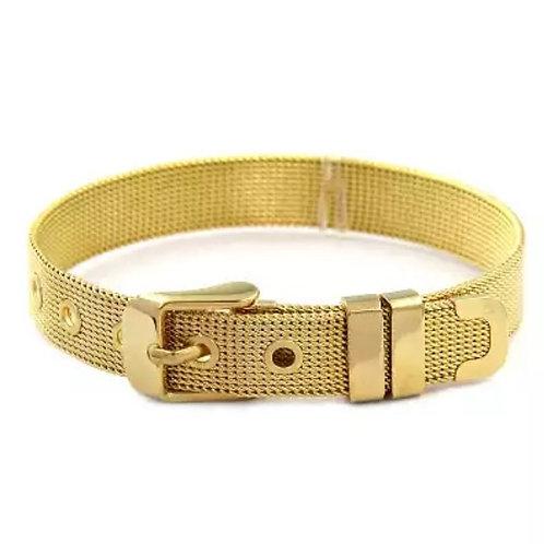 10 mm Gold Charm Bileklik
