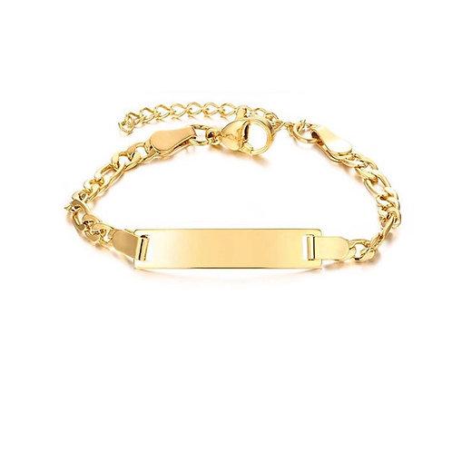 Mini Paslanmaz Çelik Künye - (Altın Renk)
