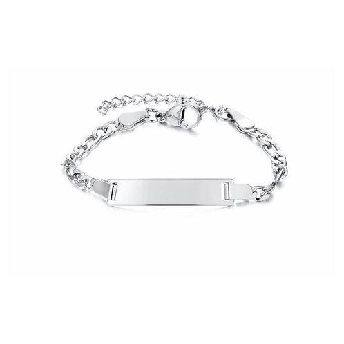 Mini Paslanmaz Çelik Künye - (Gümüş Renk)