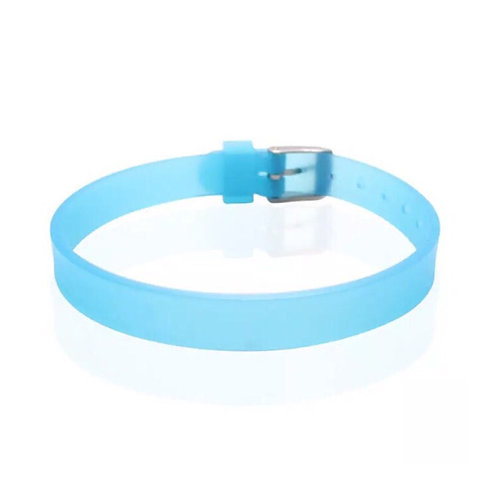8mm (0,8cm) Mavi Silikon Bileklik