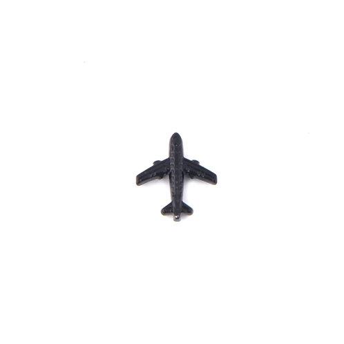 Siyah Çelik Uçak Charm