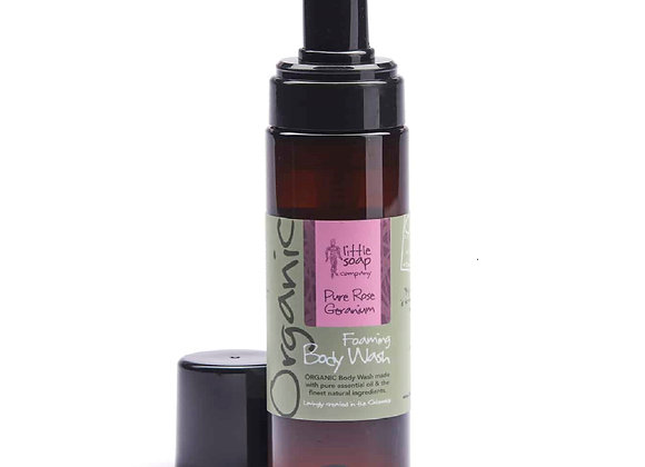 Organic Pure Rose Geranium Foaming Body Wash 200ml