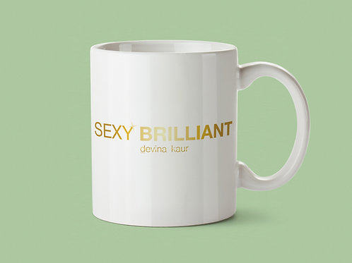 BRANDED SEXY BRILLIANT WHITE/GOLD MUG
